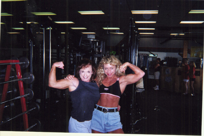 World Champion and record holder Susan Rinn and Bodybuilding and Powerlifting Champion