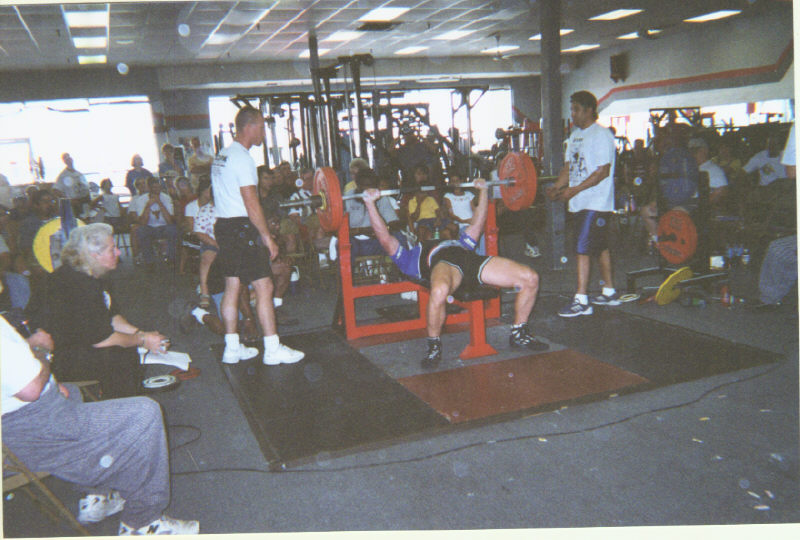 Johnny Campbell benching