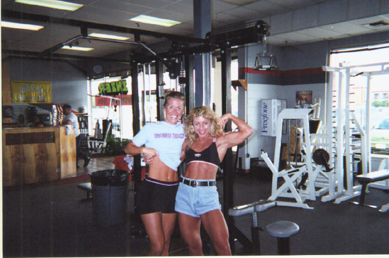 Fitness and powerlifting competitor Caprice with Peggy McCormick